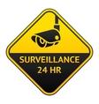 Cctv pictogram video surveillance sticker vector image