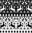 Christmas seamless monochrome fok pattern vector image