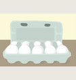 eggs in a box vector image