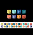 flat icons alphabet - colorful flat design vector image