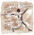 Flyball slugger Baseball vector image