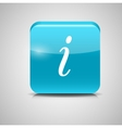 Glass Information Button Icon vector image