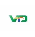 Letter V and D logo vector image