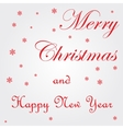 Merry Christmas red grunge vector image