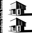 modern block house vector image