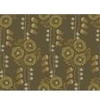 Vintage floral pattern art nouveau style vector image