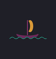 yacht computer symbol vector image