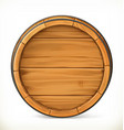 Barrel Wooden sign 3d icon vector image