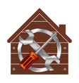 home repair symbol for business vector image vector image