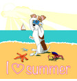 bright tropical beach summer vacation poster vector image vector image