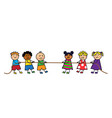 children pull the rope vector image