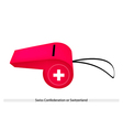 A Whistle of The Swiss Confederation Flag vector image