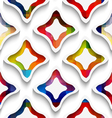 White wavy rectangles with rainbow and white vector image