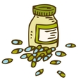 Bottle With Capsules vector image