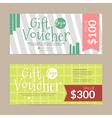 Gift voucher template  eps10 format vector image