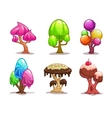 Cartoon sweet candy tree vector image