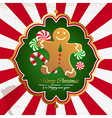 Christmas vintage background with cookies vector image