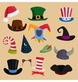 Different funny hats for party holidays and vector image