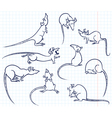 Doodle rats vector image