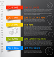 Infographic timeline report template with icons vector image