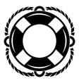 lifebuoy icon simple style vector image