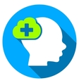 Medical Idea Flat Round Icon with Long Shadow vector image
