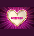 mothers day golden heart greeting card vector image