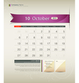 October 2013 Calendar vector image