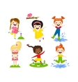 Summer kids vector image