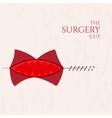Surgery cut concept vector image