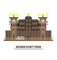 Maximum security prison with prisoner vehicle vector image