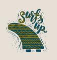 surf lettering print vector image