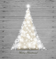 Christmas tree on wood background vector image vector image