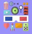 Cinema movie entertainment flat design object vector image vector image