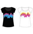 abstract paint woman t shirt vector image vector image