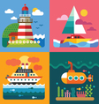 Different sea landscapes vector image