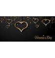 San Valentines Day background for dinner vector image vector image