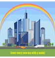 Modern city with developed infrastructure vector image