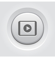 Media Play on Tablet Icon vector image