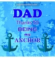 Best Dad Poster Happy Fathers Day Design vector image