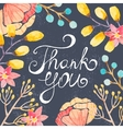 Invitation card with watercolor flowers for your vector image