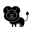 lion cute icon black sign on vector image