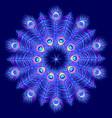 mandala on dark blue background vector image