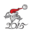 new year image with a goat vector image