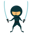 Ninja With Katana vector image