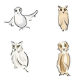 Owl sketches vector image