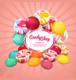 realistic sweet products poster vector image