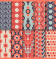 Set of seamless colorful retro patterns with vector image
