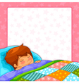 sleeping boy vector image