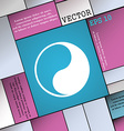 Yin Yang icon sign Modern flat style for your vector image